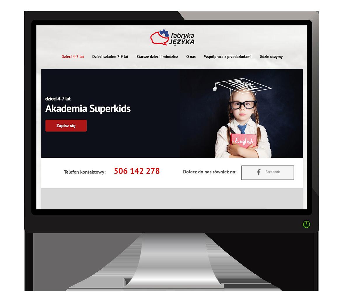 strona internetowa fabryka języka elbląg